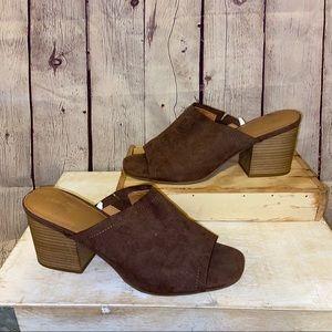 Low Block Heels size 8